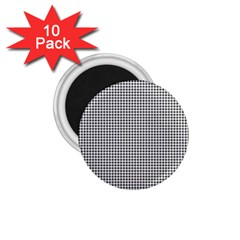Classic Vintage Black And White Houndstooth Pattern 1 75  Magnet (10 Pack)  by Beachlux