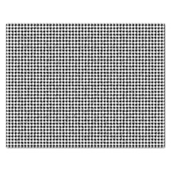 Classic Vintage Black And White Houndstooth Pattern Jigsaw Puzzle (rectangular) by Beachlux