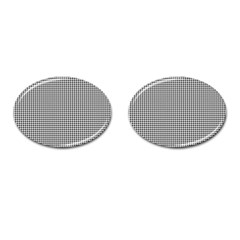 Classic Vintage Black And White Houndstooth Pattern Cufflinks (oval) by Beachlux