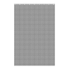 Classic Vintage Black And White Houndstooth Pattern Shower Curtain 48  X 72  (small) by Beachlux