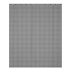 Classic Vintage Black And White Houndstooth Pattern Shower Curtain 60  X 72  (medium) by Beachlux
