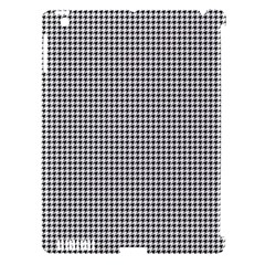 Classic Vintage Black And White Houndstooth Pattern Apple Ipad 3/4 Hardshell Case (compatible With Smart Cover) by Beachlux