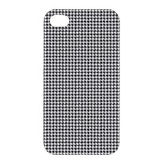 Classic Vintage Black And White Houndstooth Pattern Apple Iphone 4/4s Premium Hardshell Case by Beachlux