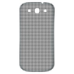 Classic Vintage Black And White Houndstooth Pattern Samsung Galaxy S3 S Iii Classic Hardshell Back Case by Beachlux
