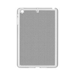 Classic Vintage Black And White Houndstooth Pattern Apple Ipad Mini 2 Case (white) by Beachlux