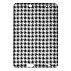 Classic Vintage Black And White Houndstooth Pattern Amazon Kindle Fire Hd (2013) Hardshell Case by Beachlux