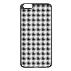Classic Vintage Black And White Houndstooth Pattern Apple Iphone 6 Plus/6s Plus Black Enamel Case by Beachlux