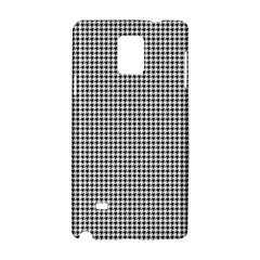 Classic Vintage Black And White Houndstooth Pattern Samsung Galaxy Note 4 Hardshell Case by Beachlux
