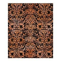 Damask2 Black Marble & Orange Watercolor (r) Shower Curtain 60  X 72  (medium)  by trendistuff