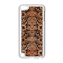Damask2 Black Marble & Orange Watercolor (r) Apple Ipod Touch 5 Case (white) by trendistuff