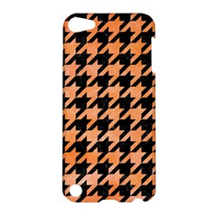 Houndstooth1 Black Marble & Orange Watercolor Apple Ipod Touch 5 Hardshell Case by trendistuff
