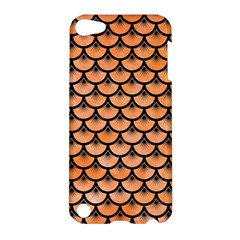 Scales3 Black Marble & Orange Watercolor Apple Ipod Touch 5 Hardshell Case by trendistuff