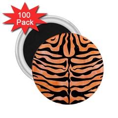 Skin2 Black Marble & Orange Watercolor 2 25  Magnets (100 Pack)  by trendistuff