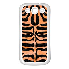 Skin2 Black Marble & Orange Watercolor (r) Samsung Galaxy S3 Back Case (white) by trendistuff