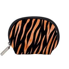 Skin3 Black Marble & Orange Watercolor (r) Accessory Pouches (small)  by trendistuff