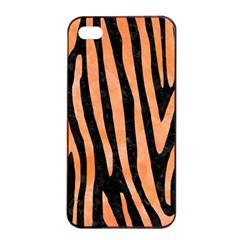 Skin4 Black Marble & Orange Watercolor Apple Iphone 4/4s Seamless Case (black) by trendistuff
