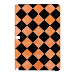 Square2 Black Marble & Orange Watercolor Samsung Galaxy Tab Pro 12 2 Hardshell Case by trendistuff