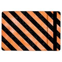Stripes3 Black Marble & Orange Watercolor Ipad Air 2 Flip by trendistuff