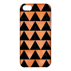 Triangle2 Black Marble & Orange Watercolor Apple Iphone 5c Hardshell Case by trendistuff