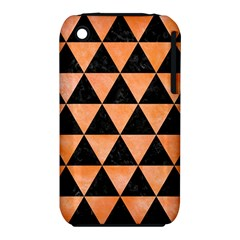 Triangle3 Black Marble & Orange Watercolor Iphone 3s/3gs by trendistuff