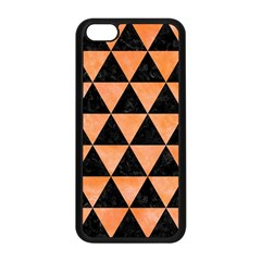 Triangle3 Black Marble & Orange Watercolor Apple Iphone 5c Seamless Case (black) by trendistuff