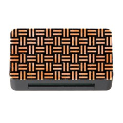 Woven1 Black Marble & Orange Watercolor (r) Memory Card Reader With Cf by trendistuff