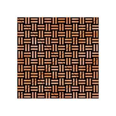 Woven1 Black Marble & Orange Watercolor (r) Acrylic Tangram Puzzle (4  X 4 ) by trendistuff