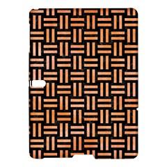 Woven1 Black Marble & Orange Watercolor (r) Samsung Galaxy Tab S (10 5 ) Hardshell Case  by trendistuff