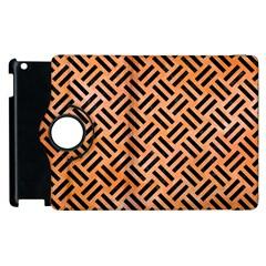 Woven2 Black Marble & Orange Watercolor Apple Ipad 3/4 Flip 360 Case by trendistuff