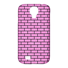 Brick1 Black Marble & Pink Colored Pencil Samsung Galaxy S4 Classic Hardshell Case (pc+silicone) by trendistuff