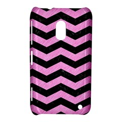 Chevron3 Black Marble & Pink Colored Pencil Nokia Lumia 620 by trendistuff