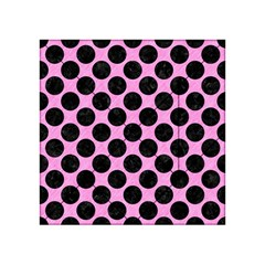 Circles2 Black Marble & Pink Colored Pencil Acrylic Tangram Puzzle (4  X 4 ) by trendistuff