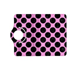 Circles2 Black Marble & Pink Colored Pencil Kindle Fire Hd (2013) Flip 360 Case by trendistuff