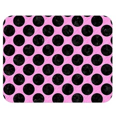 Circles2 Black Marble & Pink Colored Pencil Double Sided Flano Blanket (medium)  by trendistuff