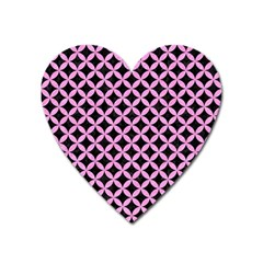 Circles3 Black Marble & Pink Colored Pencil (r) Heart Magnet by trendistuff