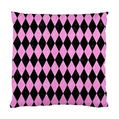 Diamond1 Black Marble & Pink Colored Pencil Standard Cushion Case (two Sides) by trendistuff