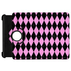 Diamond1 Black Marble & Pink Colored Pencil Kindle Fire Hd 7  by trendistuff