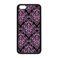 Damask1 Black Marble & Pink Colored Pencil (r) Apple Iphone 5c Seamless Case (black) by trendistuff