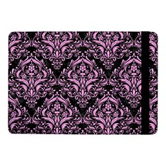 Damask1 Black Marble & Pink Colored Pencil (r) Samsung Galaxy Tab Pro 10 1  Flip Case by trendistuff