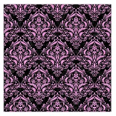 Damask1 Black Marble & Pink Colored Pencil (r) Large Satin Scarf (square) by trendistuff