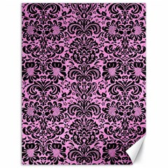 Damask2 Black Marble & Pink Colored Pencil Canvas 18  X 24   by trendistuff