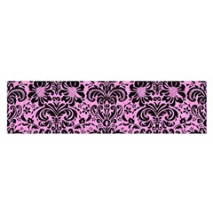 Damask2 Black Marble & Pink Colored Pencil Satin Scarf (oblong) by trendistuff