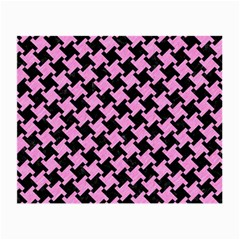 Houndstooth2 Black Marble & Pink Colored Pencil Small Glasses Cloth by trendistuff