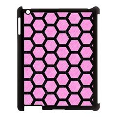 Hexagon2 Black Marble & Pink Colored Pencil Apple Ipad 3/4 Case (black) by trendistuff