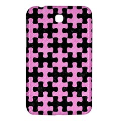 Puzzle1 Black Marble & Pink Colored Pencil Samsung Galaxy Tab 3 (7 ) P3200 Hardshell Case  by trendistuff