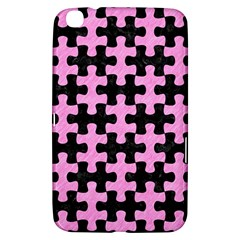 Puzzle1 Black Marble & Pink Colored Pencil Samsung Galaxy Tab 3 (8 ) T3100 Hardshell Case  by trendistuff