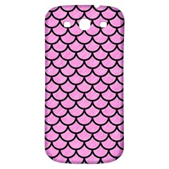 Scales1 Black Marble & Pink Colored Pencil Samsung Galaxy S3 S Iii Classic Hardshell Back Case by trendistuff