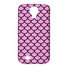 Scales1 Black Marble & Pink Colored Pencil Samsung Galaxy S4 Classic Hardshell Case (pc+silicone) by trendistuff