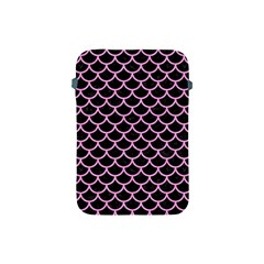 Scales1 Black Marble & Pink Colored Pencil (r) Apple Ipad Mini Protective Soft Cases by trendistuff