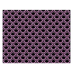 Scales2 Black Marble & Pink Colored Pencil (r) Rectangular Jigsaw Puzzl by trendistuff